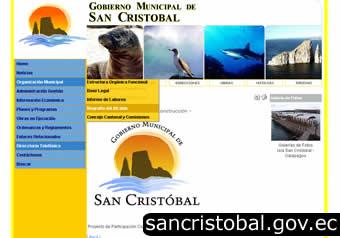 portal gobierno municipal de san cristobal - galapagos
